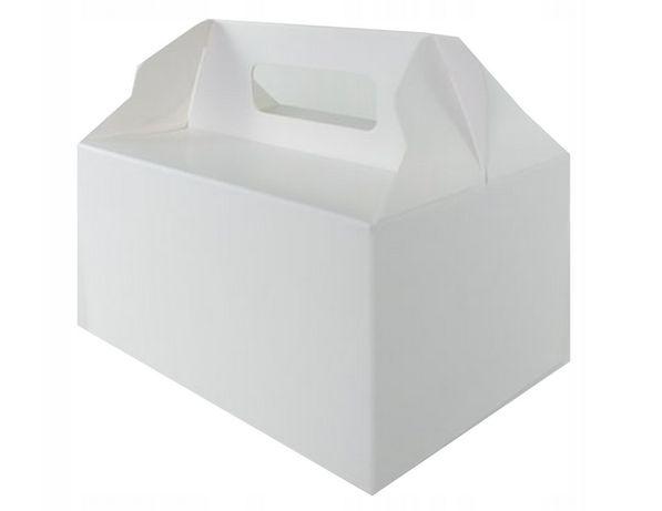 NOWE pudełka na ciasto wesele kartonik ślub białe 15 szt