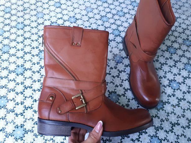 Демисезонные ботинки полусапоги сапоги женские /PU/ от Etam Франция