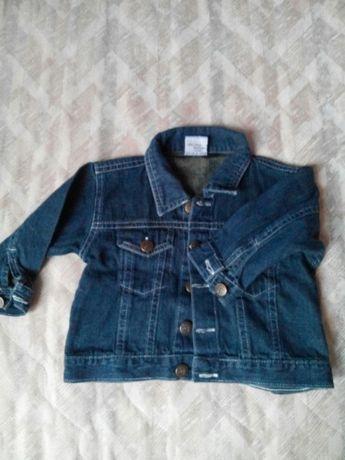 Jeansowa kurteczka dla chłopca rozm 74