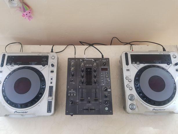 Pioneer zestaw DJM 400 i CDJ 800 MK2