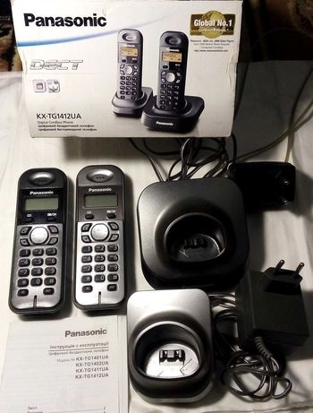 Радиотелефон Panasonic KX-TG1412UA 2 трубки
