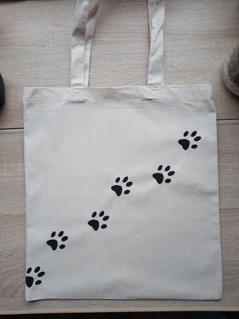 Bawełniana torba malowana ręcznie