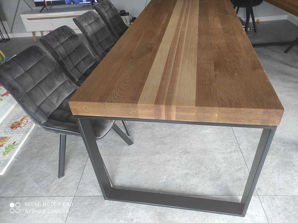 stol debowy lity 225x90x80 loftowy