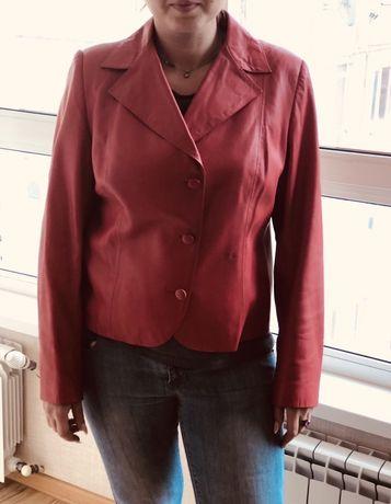 Кожаный пиджак. Размер L-XL