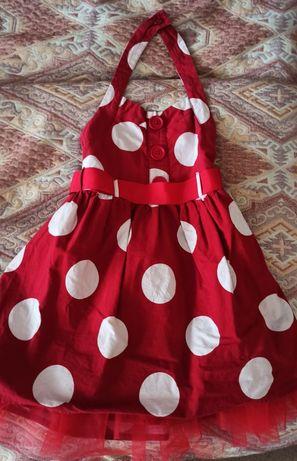 Платье на девочку в стиле стиляги 5-7лет