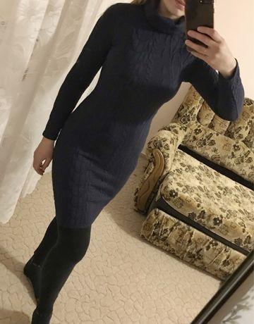 Платье с принтом и горловиной, сукня, плаття