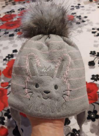 Шапка для девочки, шапки зима - весна от 4 месяцев до года
