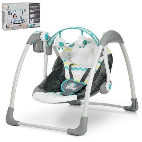 Качеля-шезлонг для малышей  6503/6504  5 скоростей качания