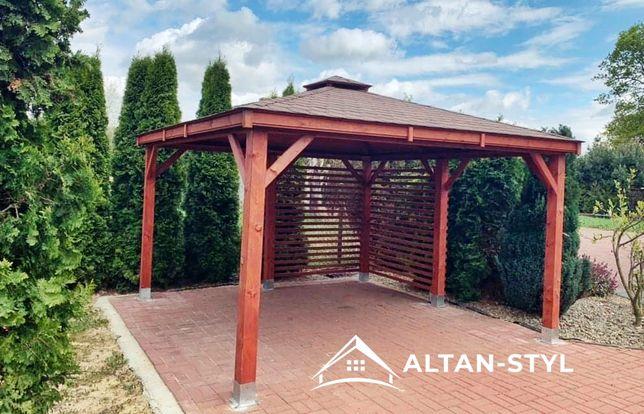 Altany, altanki, wiaty, altana ogrodowa LENA 3x3m PRODUCENT