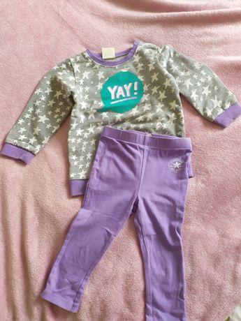 Komplet converse leginsy spodnie bluza all star 24m 86 92