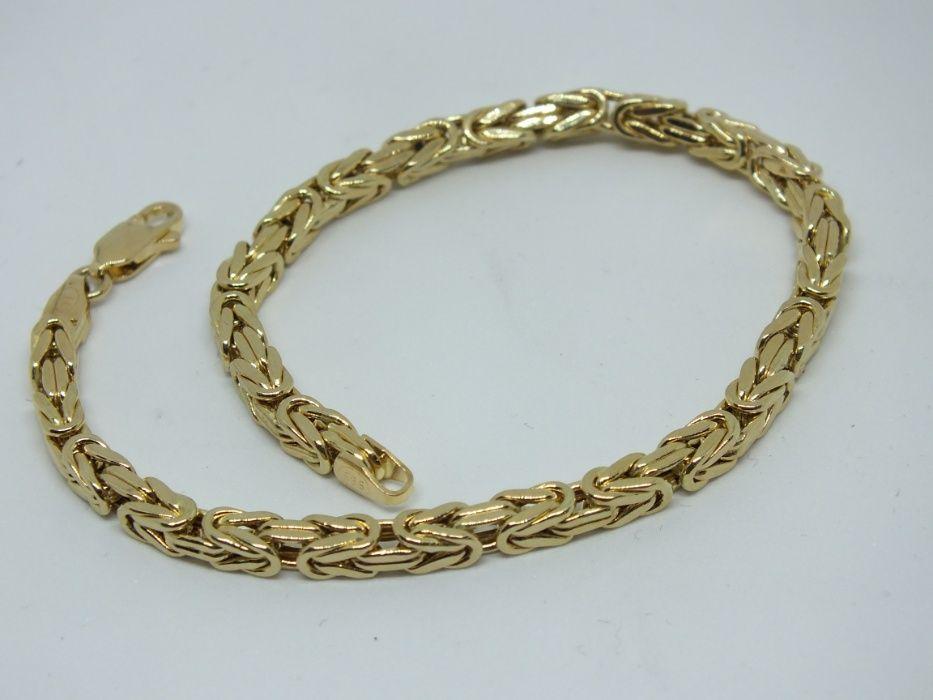 **Nowa złota bransoletka 8,64g p.585-splot królewski-Lombard Stówka**