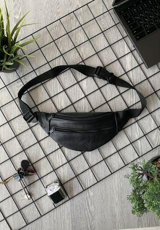 - 50% Sale Бананка натуральная кожа сумка на пояс шкіра