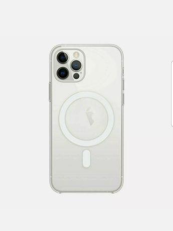 Capa em silicone com MagSafe para iPhone 12