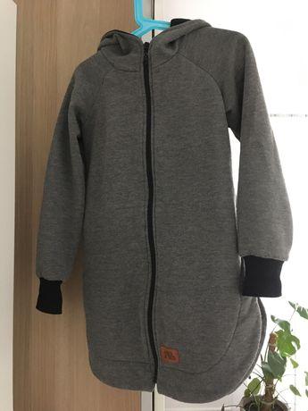 Plaszcz LaMama 104/110 szary bluza