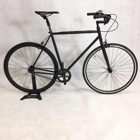 Rower miejski single speed ostre koło 53 czarny
