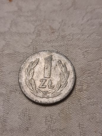 Moneta 1 zł. bez znaku mennicy z 1949 r.