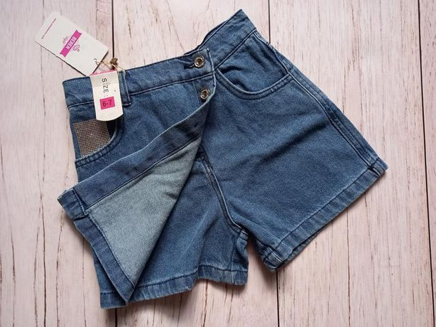 Стильні шорти-юбка 6-7 років