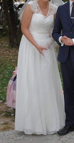 Suknia ślubna śmietanowa biel