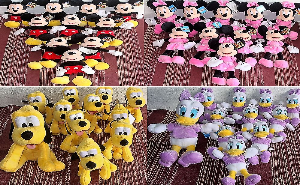 Promo Peluche Mickey Minnie pluto margarida pateta donald masha Paranhos - imagem 1