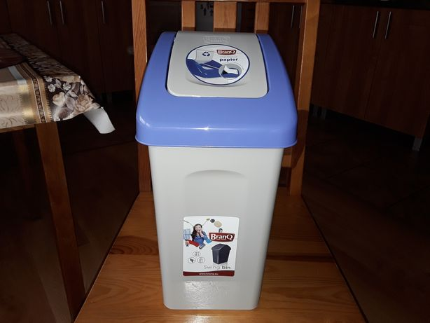 Kosze na Śmieci Pojemnik do Segregacji 10L  Papier i odpady zmieszane