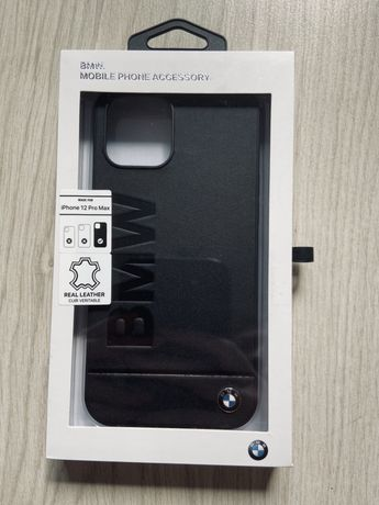 BMW obudowa etui iPhone 12 pro max skóra czarna