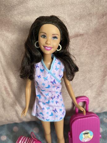 Laleczka, lalka Barbie z walizkami gumowe ciałko