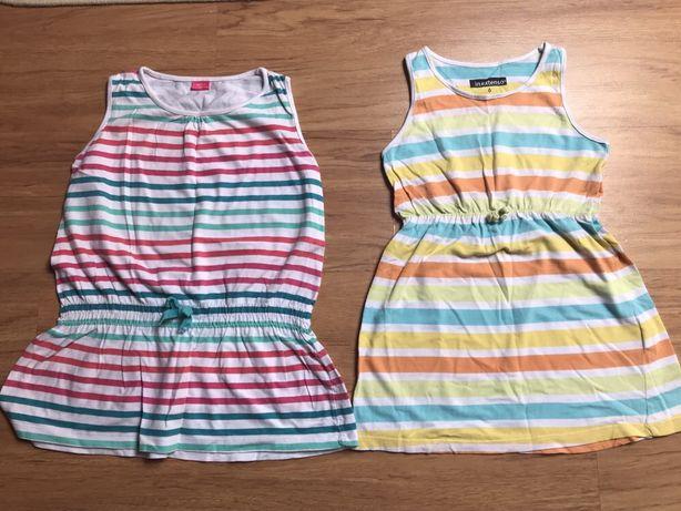 2 szt. Sukienki na lato w rozm. 116