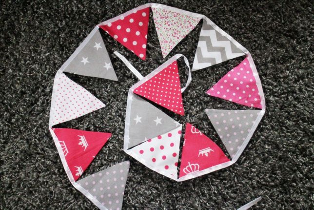 Girlanda proporczyki trójkąciki do pokoju dziecięcego