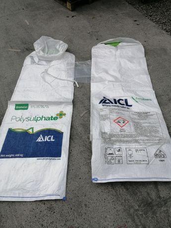 Worki big bag 143 cm wysokości z wkładem foliowym / worki bb