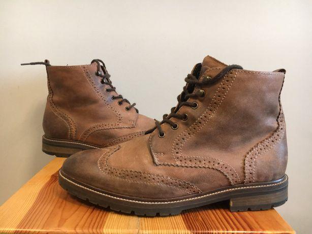 Элитная обувь ручной работы. Ботинки броги РАСЕ. 43й, стелька 28