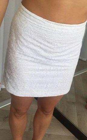 Новая белая летняя юбка р.44