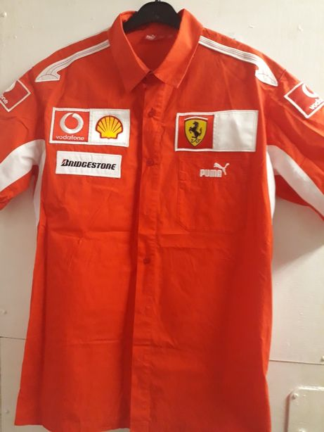 Koszula puma L Naszywki Ferrari