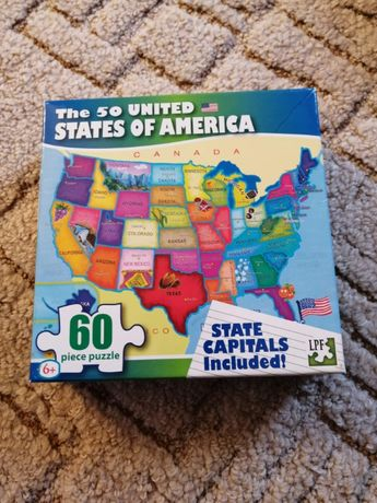 """Puzzle """"The 50 United States of America"""""""