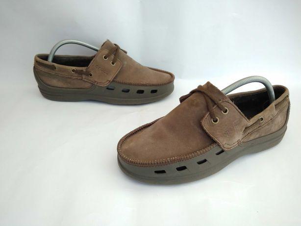 кожаные мокасины крокс Crocs 42р M9