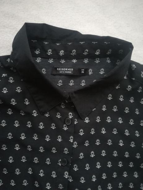 Czarna koszula we wzorki, damska, rozmiar 36, Reserved
