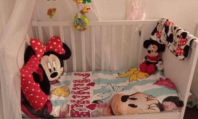 Łóżko dziecięce Ikea Gulliver +materac + baldachim
