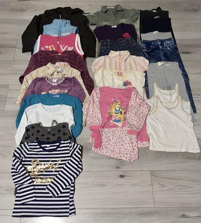 Zestaw ubrań dla dziewczynki r. 110