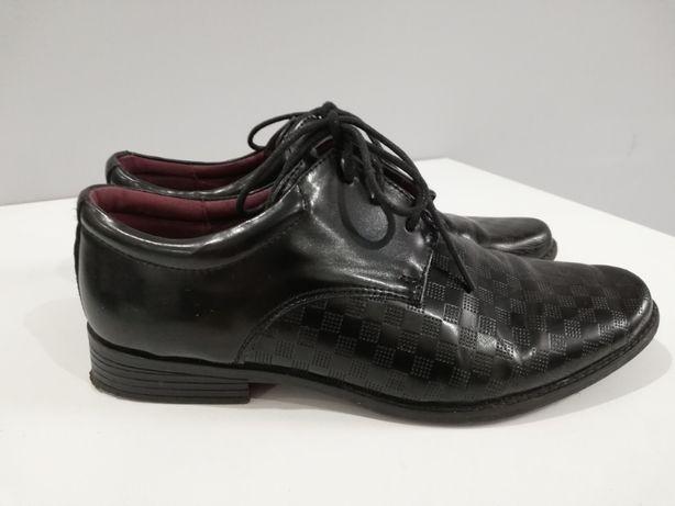 Buty chłopięce eleganckie czarne