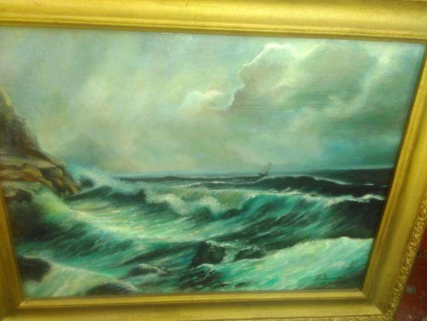 Морской пейзаж,масло,холст
