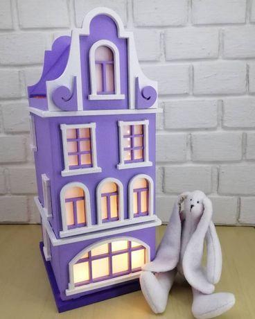 Светильник ночник домик детский