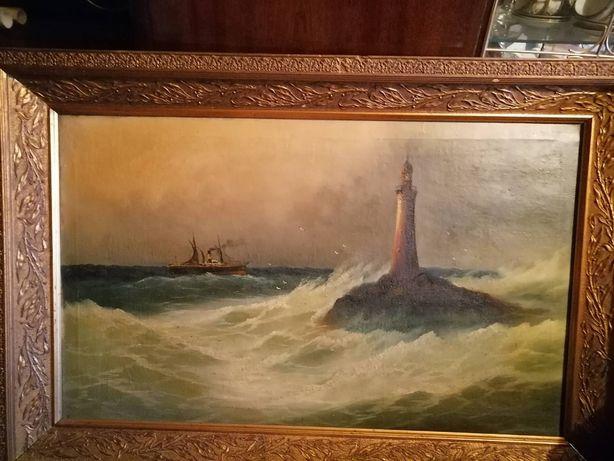 Продам старинную картину. Размер 82 см на 49. Есть подпись автора