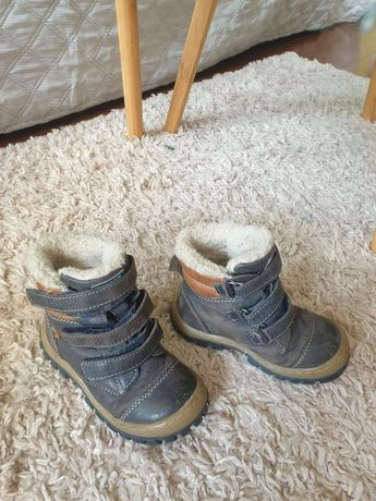 Zimowe skórzane buciki Lasocki