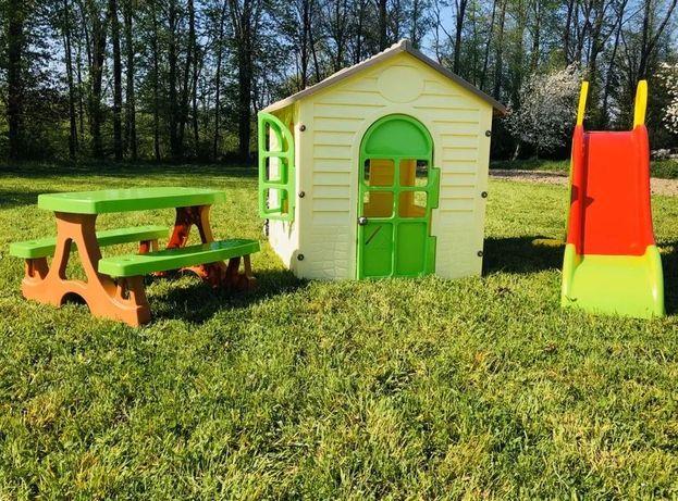 Дитячий будиночок, детский домик Mochtoys 11558 +детская горка+ столик