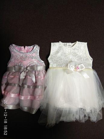 Нарядное платье, новый год, рождество, крещение. 0-3 месяца
