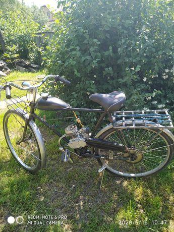 Мотовелосипед Велосипед З мотором Скутер Мопед Дырчик 80 кубиків
