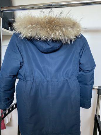 Куртка пуховик удлиненная синего цвета для мальчика Snowimage