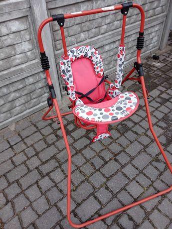 Huśtawka dziecięca, chodaczek i fotel pluszowy