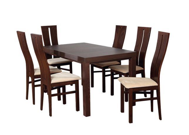 stół+6 krzeseł Elegancki zestaw do jadalni kuchni salonu
