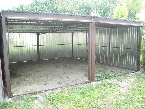 Garaż dwustanowiskowy 6x5 garaże blaszaki transport + montaż Gratis