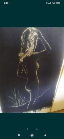 Панно картина текстиль винтаж ретро СССР ГДР